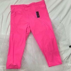 No Boundaries Pink Capris Leggings NWT